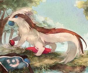 pokemon and linoone image