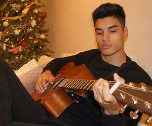 boy, guitar, and siva image
