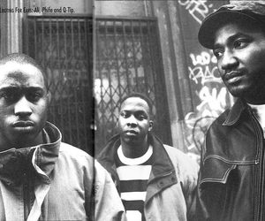 a tribe called quest, black and white, and old school image