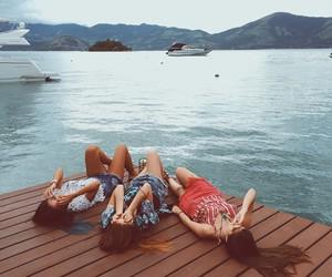 girls, relax, and friends image