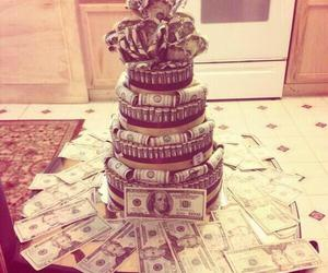 money, cake, and birthday image