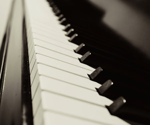 music, piano, and art image