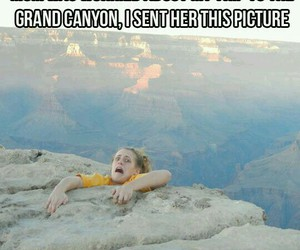 grand canyon, mom, and worried image