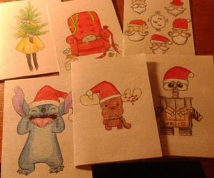 art, cards, and christmas image