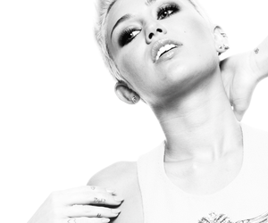 black and white and miley cyrus image