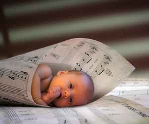 baby, cute, and music image