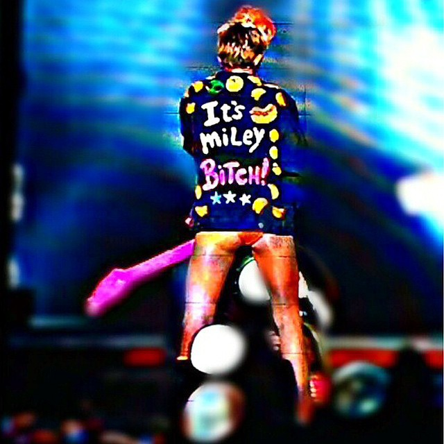 miley cyrus and bitch image
