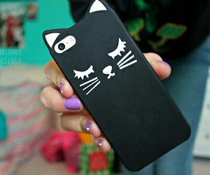 black, case, and cat image