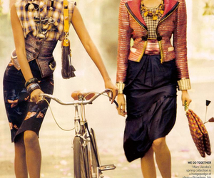 bike, colorful, and girls image