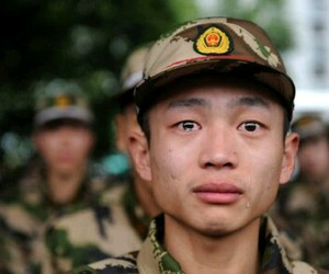 sad, soldier, and cry image