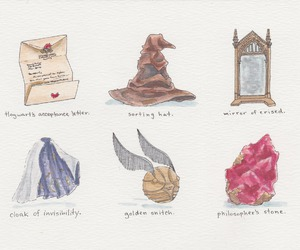 harry potter, illustration, and philosopher's stone image