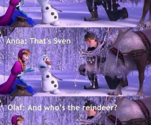 frozen, funny, and olaf image