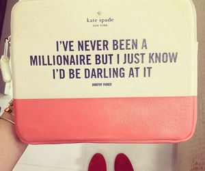 quote, millionaire, and bag image
