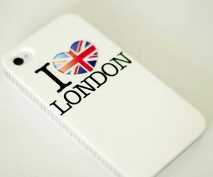 london, phone, and white image