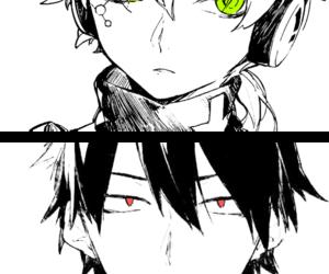 anime, red eyes, and konoha image