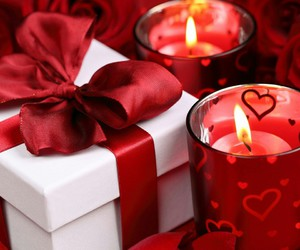 love, candle, and gift image