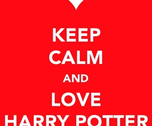 harry potter, keep calm, and love image