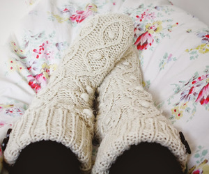 bed, cosy, and lazy day image