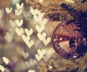 christmas, hearts, and light image