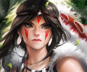 anime, princess mononoke, and sakimichan image
