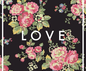 love, background, and flowers image