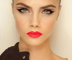 model, cara delevingne, and make up image