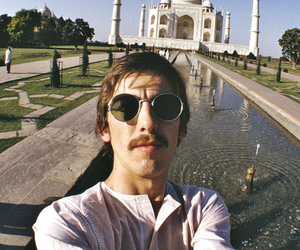george harrison, the beatles, and india image