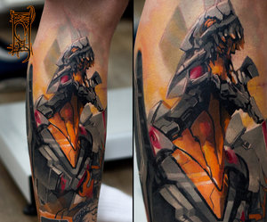 anime, evangelion, and tattoo image
