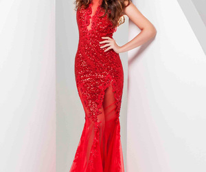 prom dress and red image