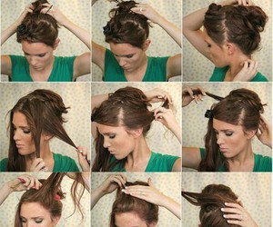 bun, hair, and how to image
