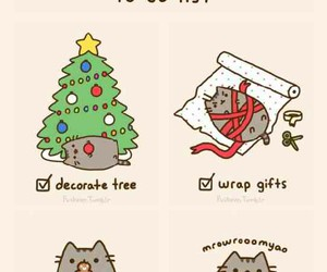 cat, christmas, and to do list image
