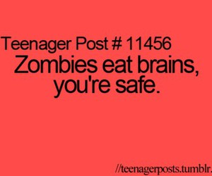 brain, eat, and zombies image