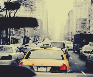 beauty, new york, and taxi image