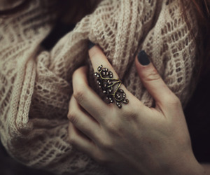 ring, scarf, and nails image