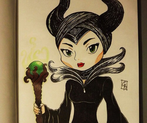 maleficent, cute, and art image