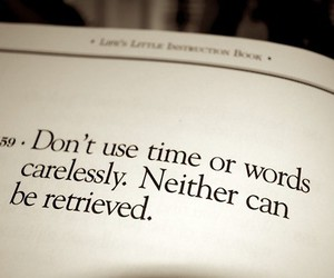 quote, words, and time image