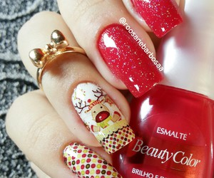 beauty, christmas nails, and nails2inspire image