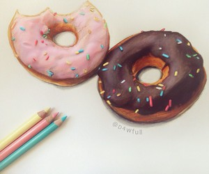 donuts and drawing image