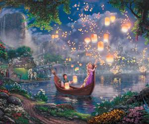 disney, thomas kinkade, and disney dreams image