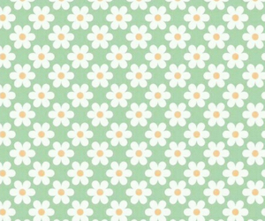 flowers, green, and pattern image