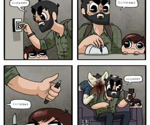 funny, the last of us, and clickers image