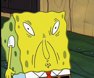 spongebob, funny, and face image