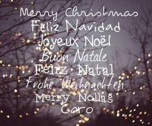 christmas, merry christmas, and languages image