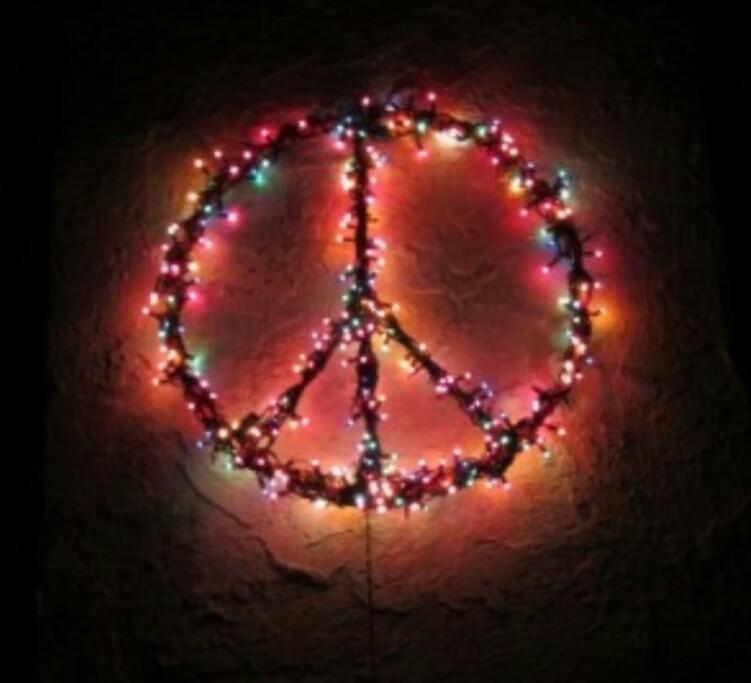christmas, hippies, and lights image