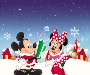 disney, merry christmas, and minnie mouse image