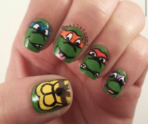 fashion, nails, and ninja turtles image