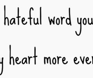 breaks, heart, and word image