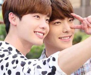 lee jong suk and kim woo bin image