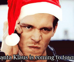 klaus, the vampire diaries, and christmas image