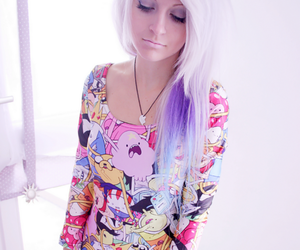 alt girl, pastel hair, and dress image